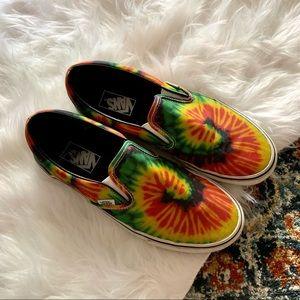 Vans Rasta Reggae Tie Dye Slip On Shoes